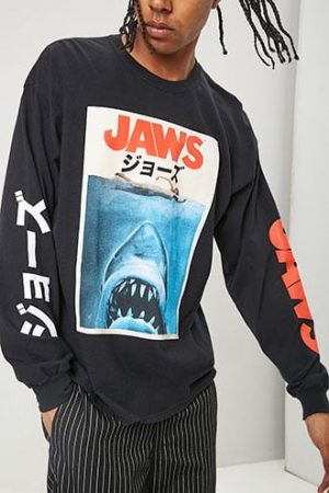 Jaws Graphic Tee at Forever 21 , Black/multi