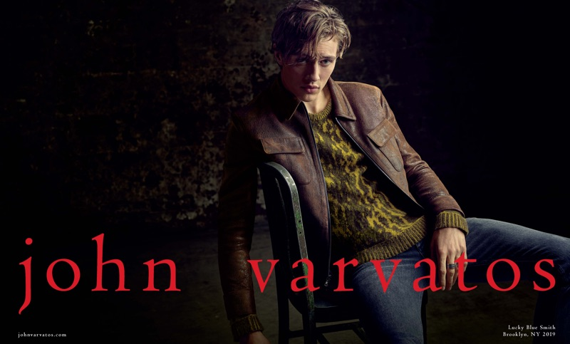 Billy Kidd photographs Lucky Blue Smith for John Varvatos' fall-winter 2019 campaign.