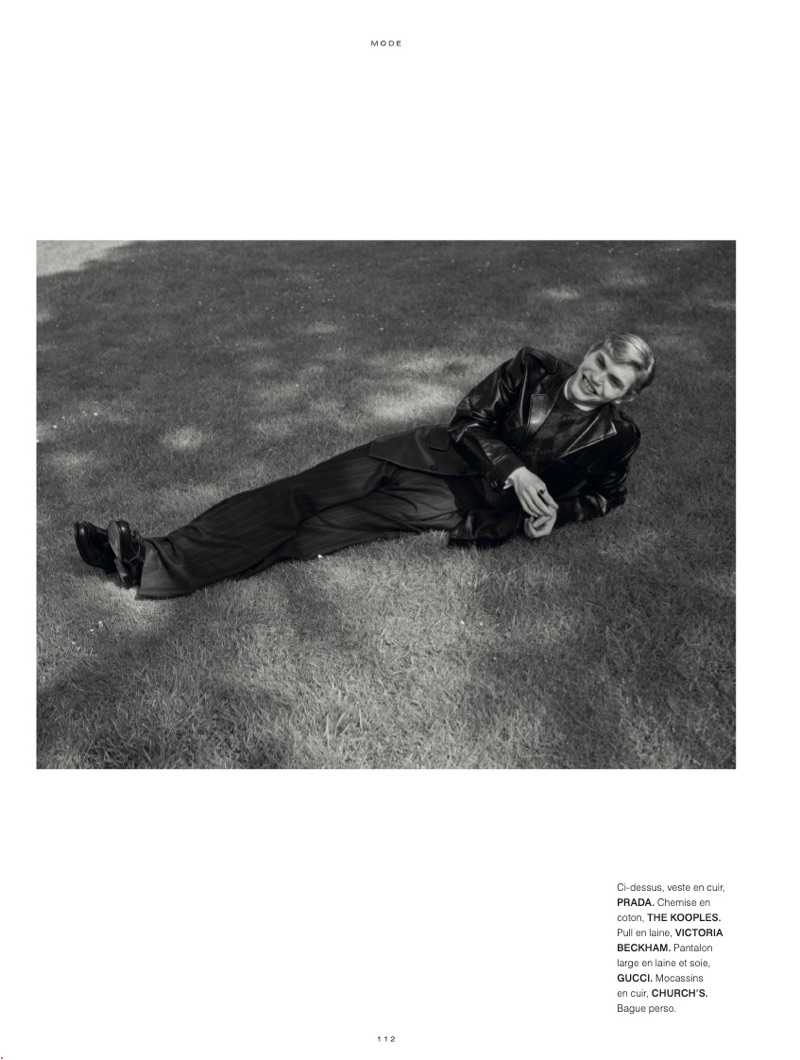 Jose Luis Lucero Plays Dress Up for L'Officiel Hommes Paris
