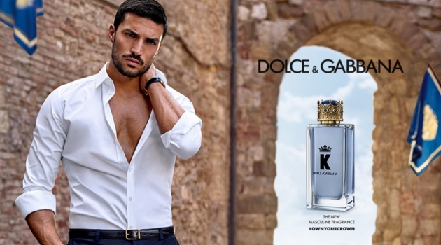 Mariano Di Vaio fronts the fragrance campaign for K by Dolce & Gabbana.