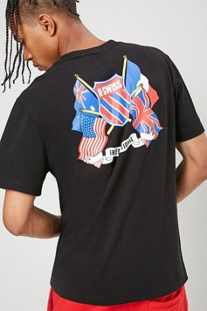 K-Swiss Graphic Tee at Forever 21 , Black/blue