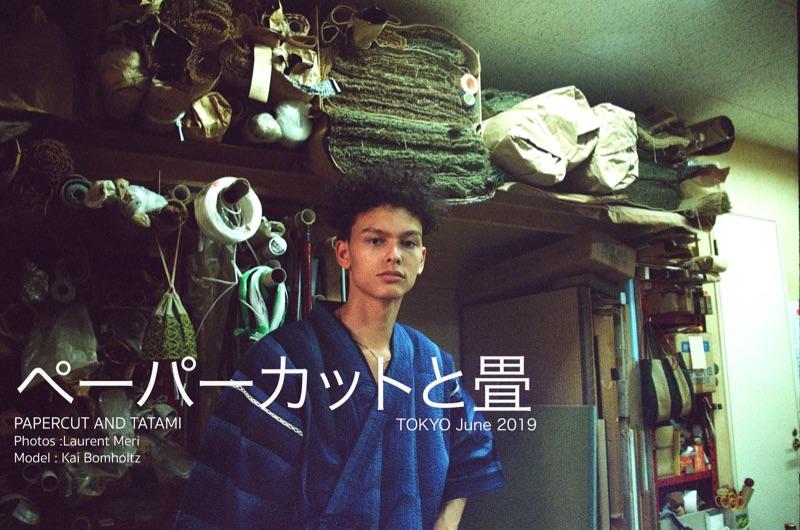 Kai wears kimono Loft Japan.