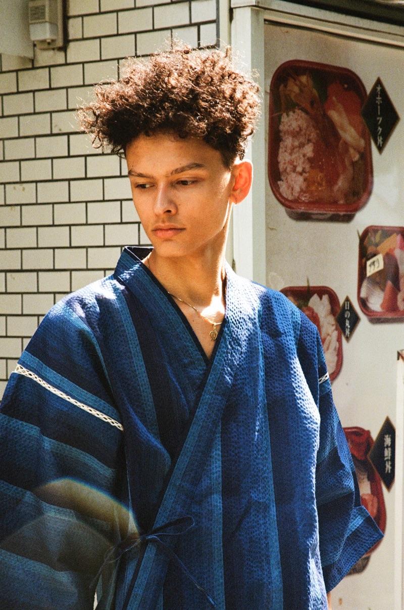 Kai wears kimono Loft.