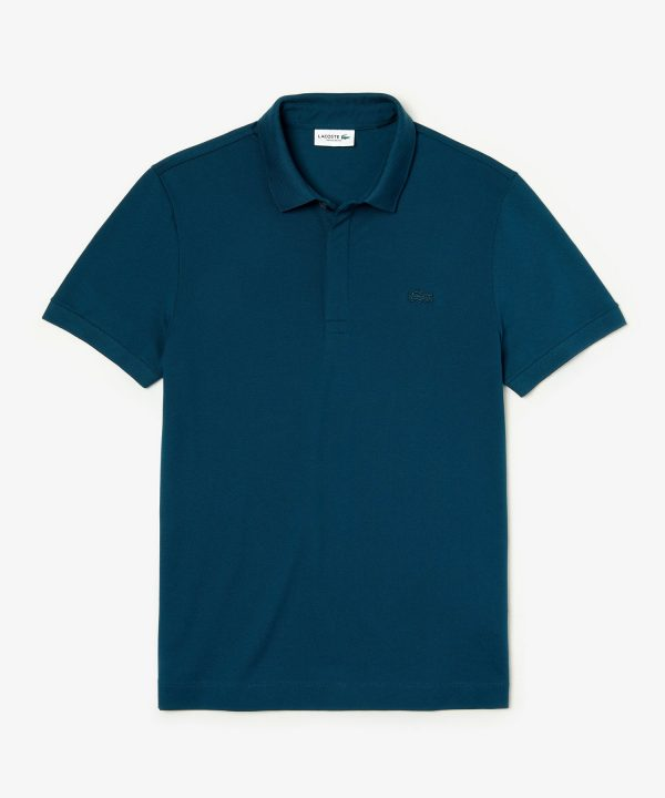 Lacoste Regular Fit Stretch Cotton Paris Polo in Blue
