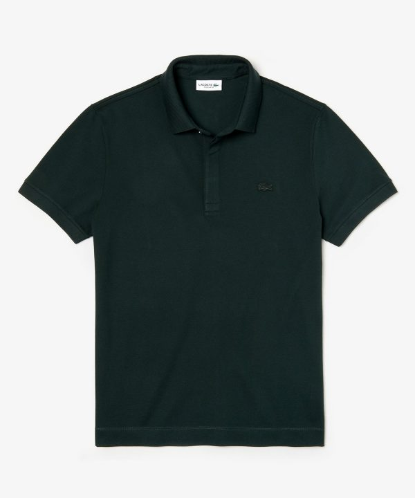 Lacoste Regular Fit Stretch Cotton Paris Polo in Green