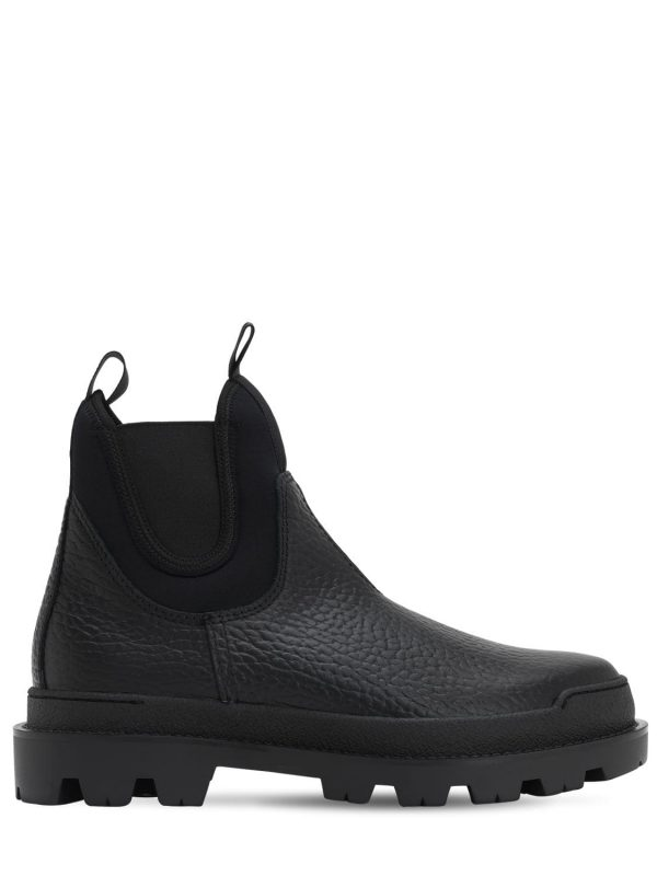 Leather & Neoprene Chelsea Boots