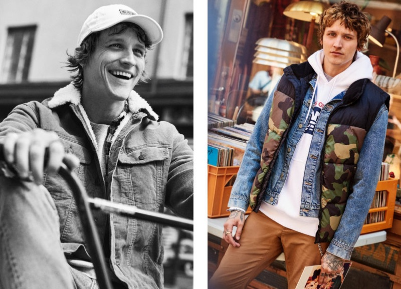 All smiles, Leebo Freeman sports fall fashions from H&M.