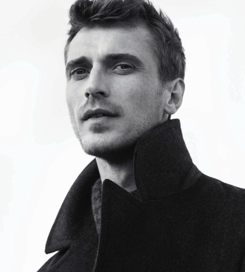 Clément Chabernaud stars in Loro Piana's fall-winter 2019 campaign.