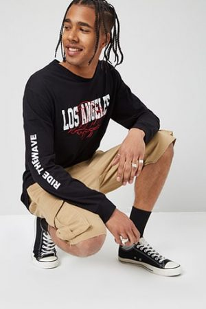 Los Angeles Graphic Tee at Forever 21 , Black/red