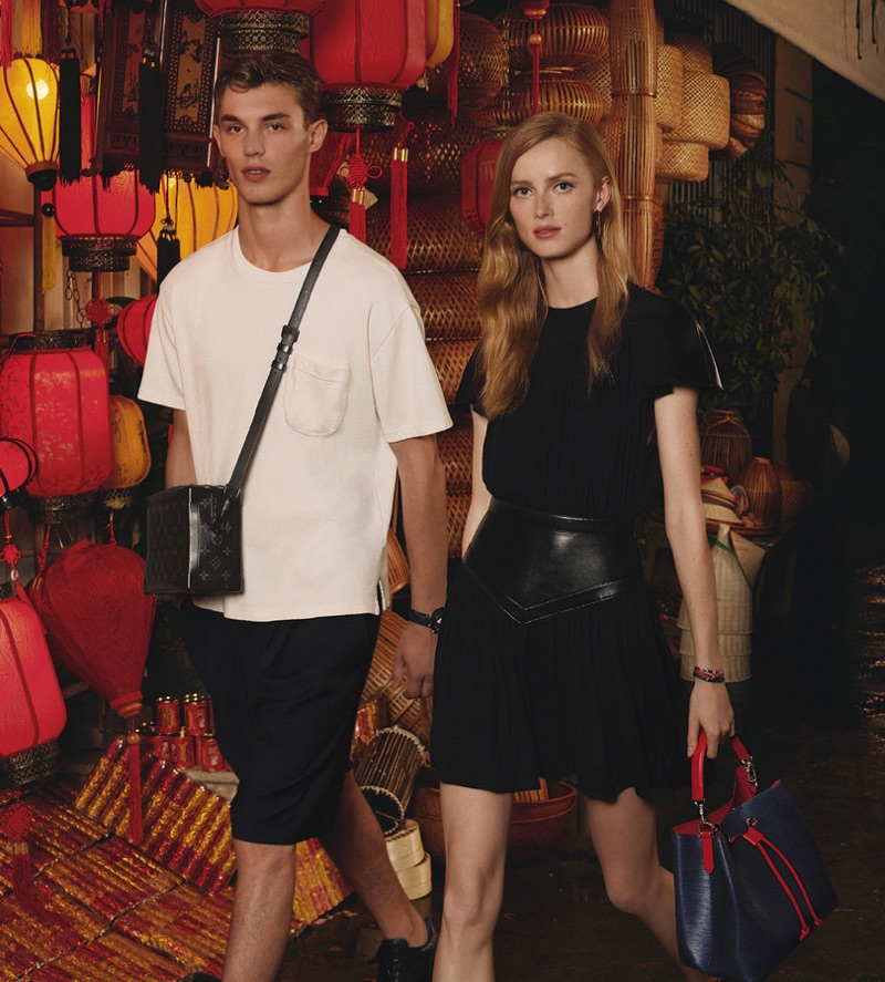 Kit Butler and Rianne van Rompaey front Louis Vuitton's Spirit of Travel campaign.