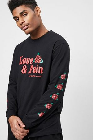 Love & Pain Graphic Tee at Forever 21 , Black/red