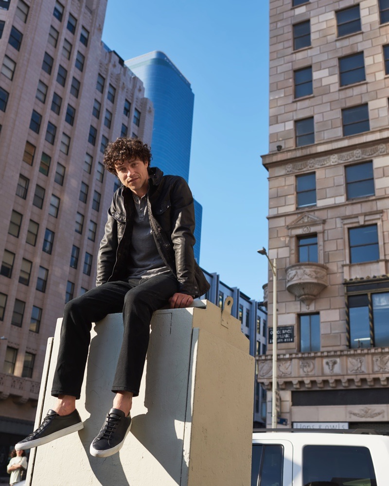 Miles McMillan fronts Lucky Brand's fall-winter 2019 men's campaign.