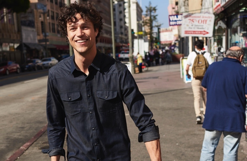 Model Miles McMillan stars in Lucky Brand's fall-winter 2019 campaign.