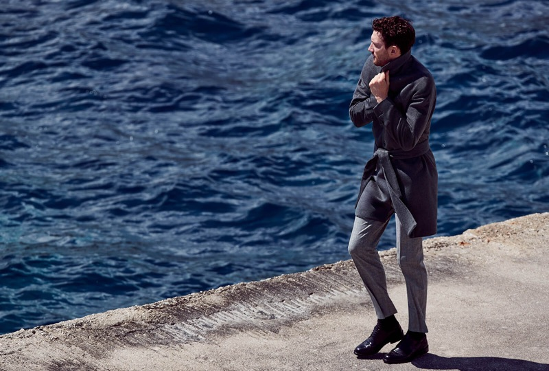 Model Jacob Coupe appears in Luigi Bianchi Mantova's fall-winter 2019 campaign.
