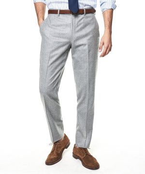 Made In The USA Sutton Wool Flannel Suit Trouser In Light Grey