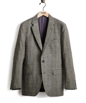 Made in USA Black Label Glen Plaid Wool Suit Jacket