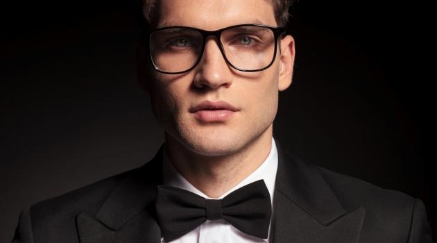 Man Tuxedo Glasses
