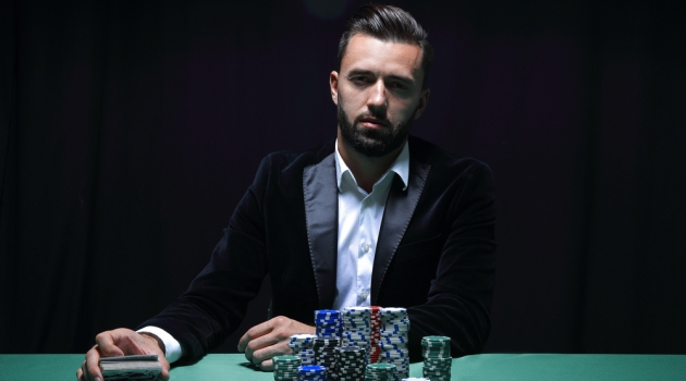 Man Tuxedo Poker