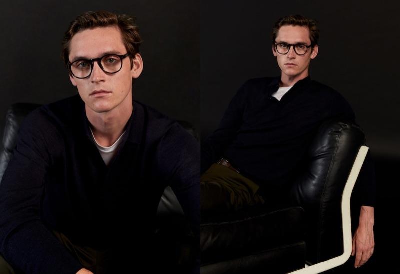 Rocking glasses, Anders Hayward models a fresh look from Mango.