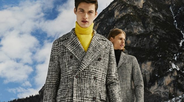 Models Gabriel Daum and Dominik G. star in Manuel Ritz's fall-winter 2019 campaign.