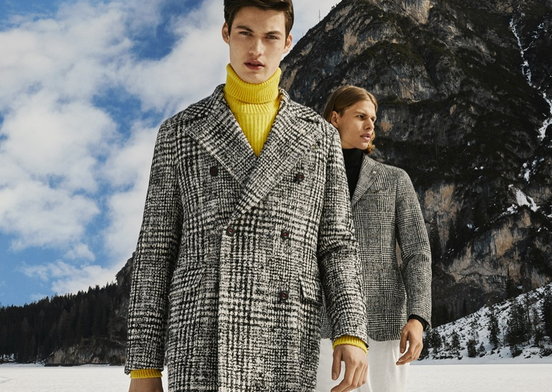 Models Gabriel Daum and Dominik G. star in Manuel Ritz's fall-winter 2019 campaign.