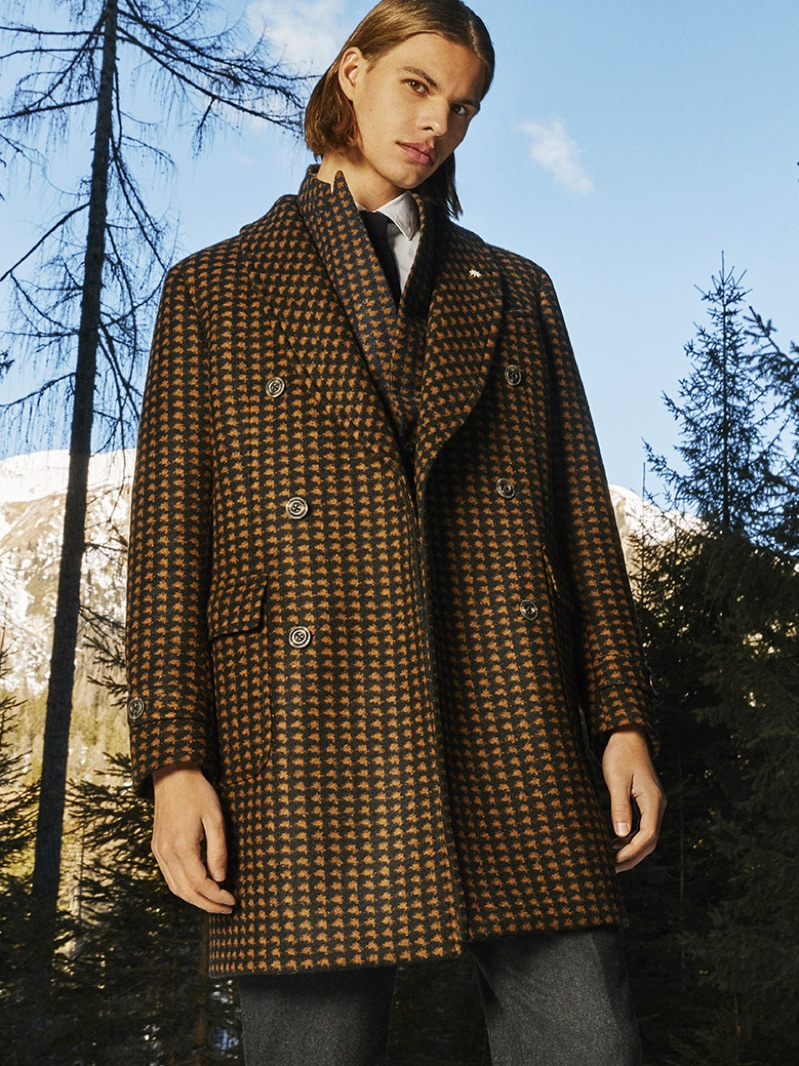Dominik G. appears in Manuel Ritz's fall-winter 2019 campaign.