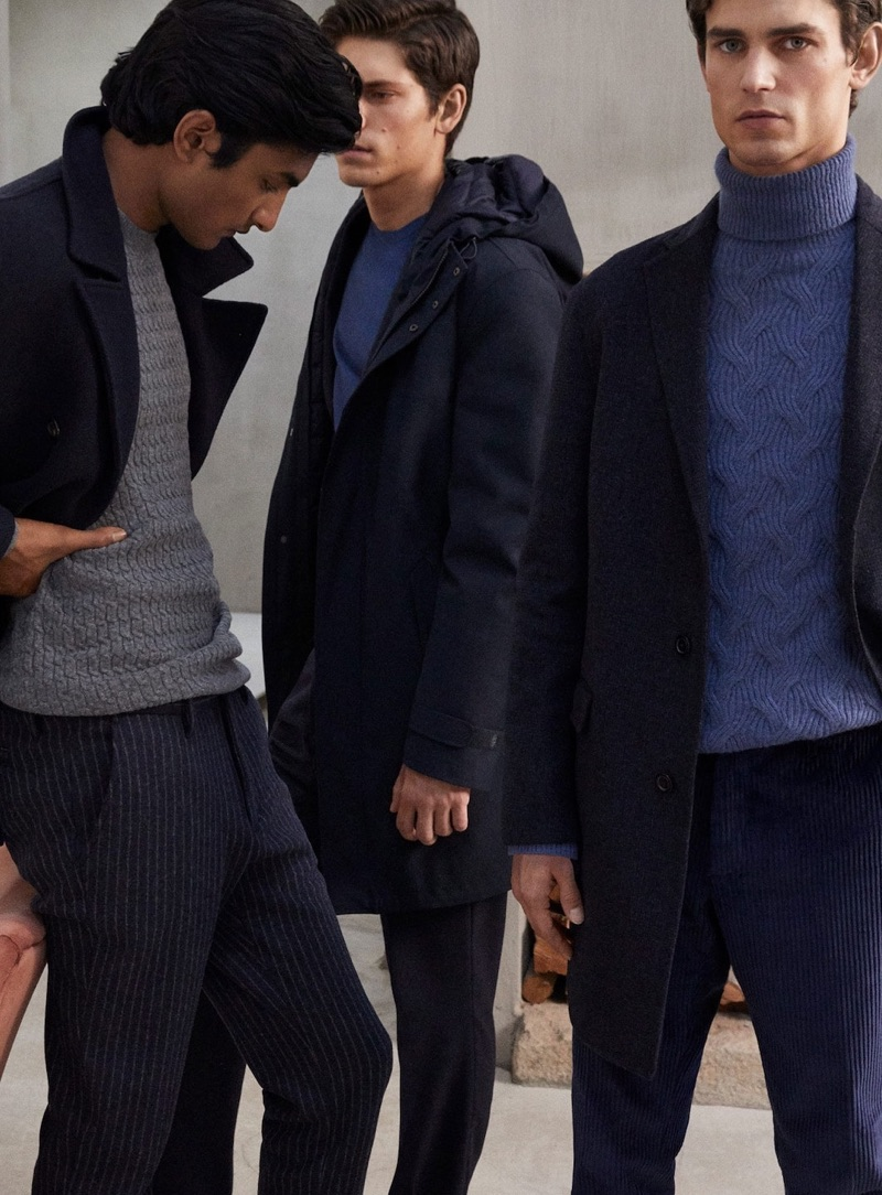 Massimo Dutti enlists Rishi Robin, Justin Eric Martin, and Arthur Gosse for its latest men's editorial.