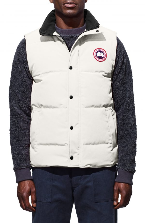 Men's Canada Goose Garson Regular Fit Quilted Down Vest, Size Small - Beige