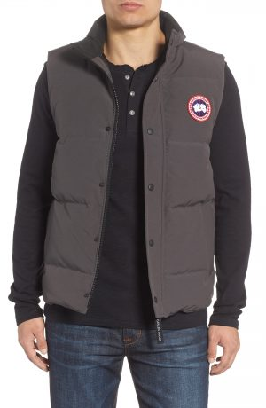 Men's Canada Goose Garson Regular Fit Quilted Down Vest, Size X-Small - Grey
