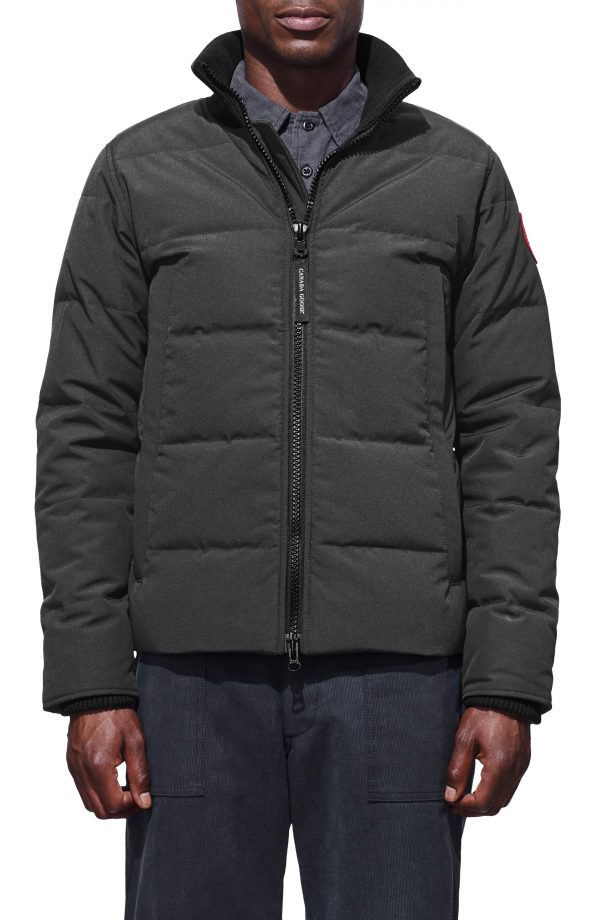 Men's Canada Goose 'Woolford' Slim Fit Down Bomber Jacket, Size X-Small - Grey