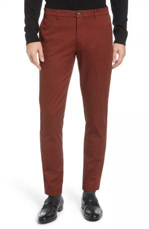 Men's Club Monaco Connor Slim Fit Stretch Cotton Chino Pants, Size 28 x 30 - Brown