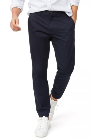 Men's Club Monaco Connor Slim Fit Stretch Cotton Chino Pants, Size 34 x 34 - Blue