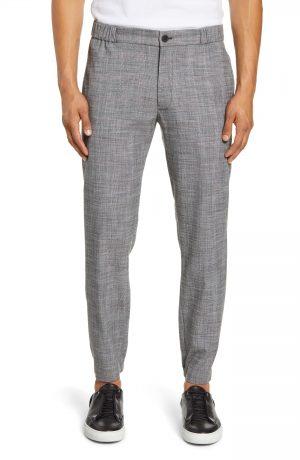Men's Club Monaco Lex Glen Plaid Pants, Size X-Large - Black