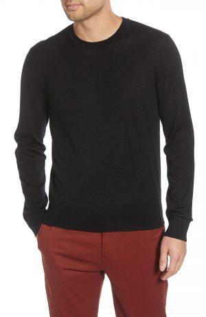 Men's Club Monaco Luxe Merino Wool Blend Crewneck Sweater, Size X-Small - Black