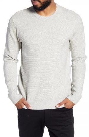 Men's Club Monaco Ottoman Stitch Slim Fit Crewneck Sweater, Size Small - Grey
