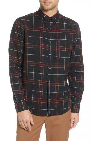 Men's Club Monaco Regular Fit Stripe Button-Front Shirt, Size X-Small - Blue