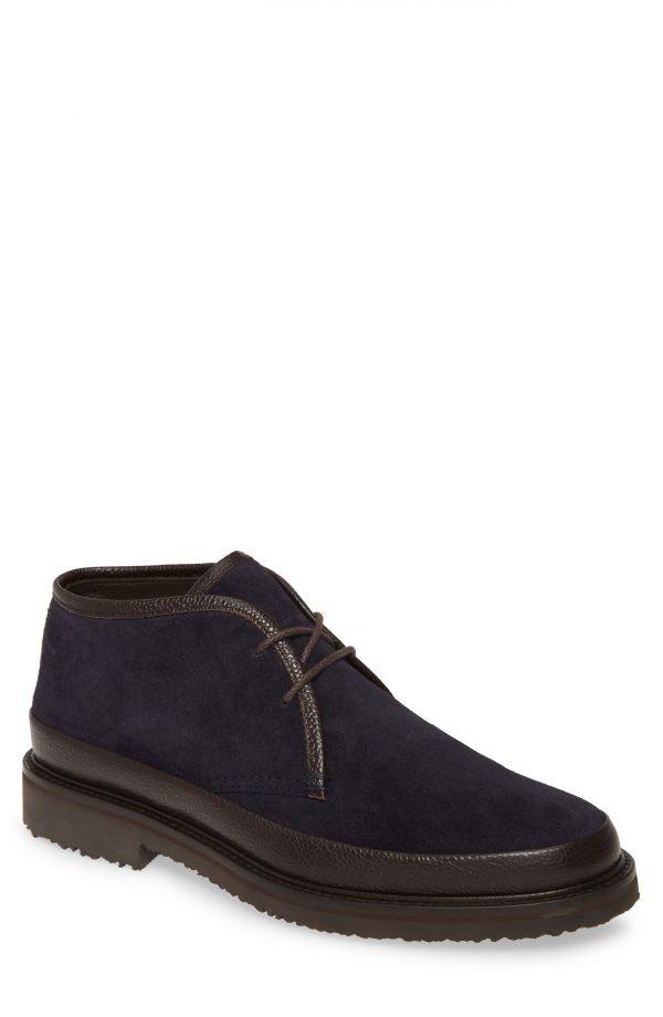 Men's Ermenegildo Zegna 'Trivero' Chukka Boot, Size 11US / 10UK - Blue