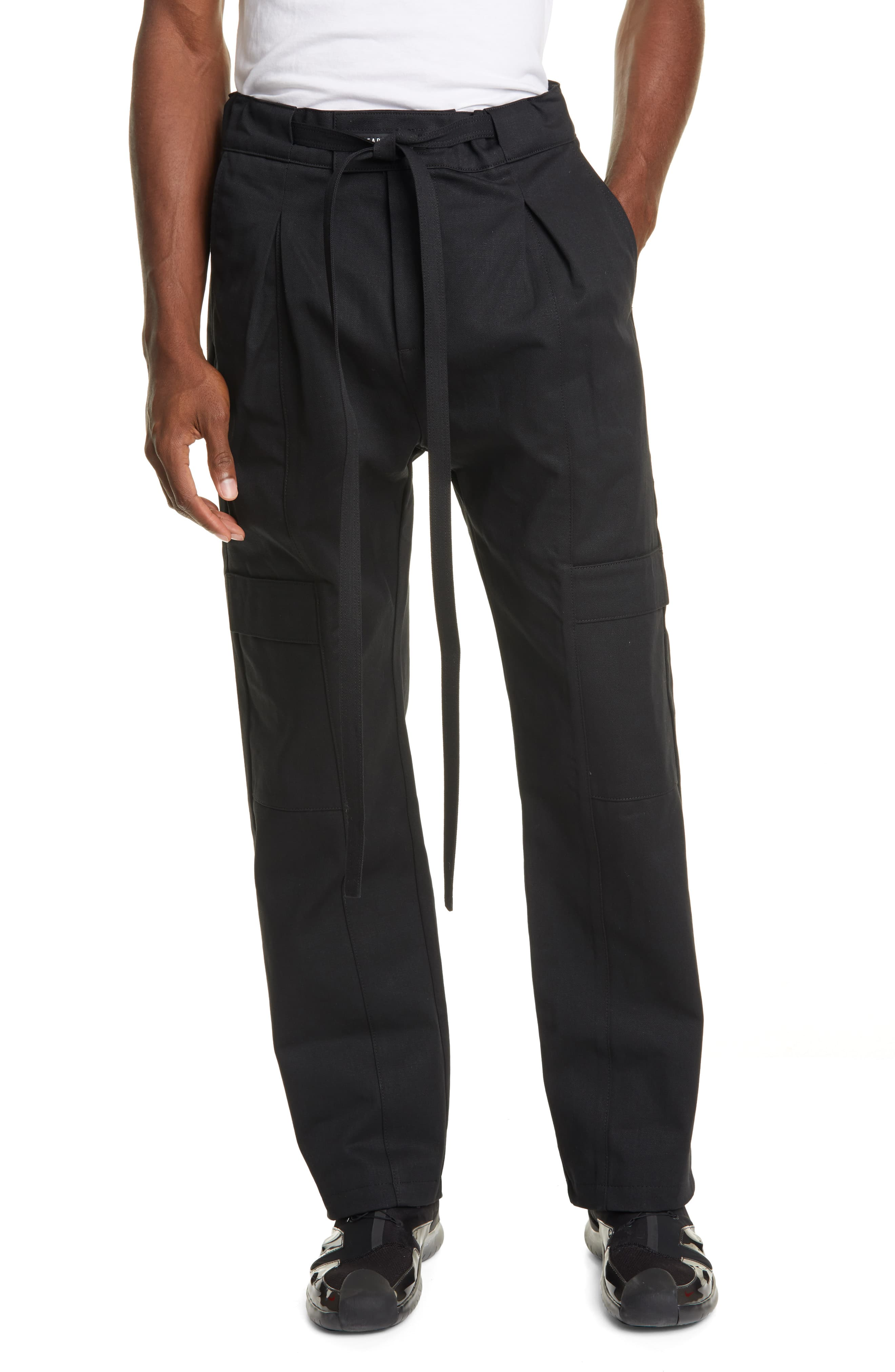 free shipping new lower prices diversified latest designs Men's Fear Of God Baggy Cargo Pants, Size Small - Black