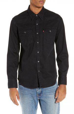 Men's Levi's Barstow Western Denim Shirt, Size Small - Black