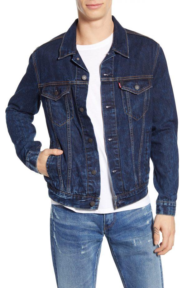 Men's Levi's Denim Trucker Jacket, Size Large - Blue