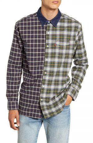 Men's Levi's Pieced Sunset Slim Fit Plaid Button-Up Sport Shirt
