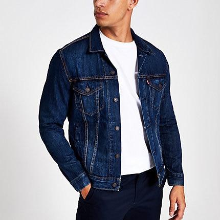 Mens Levi's blue denim trucker jacket