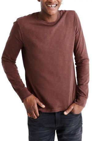 Men's Madewell Allday Garment-Dyed Crewneck T-Shirt, Size Medium - Red