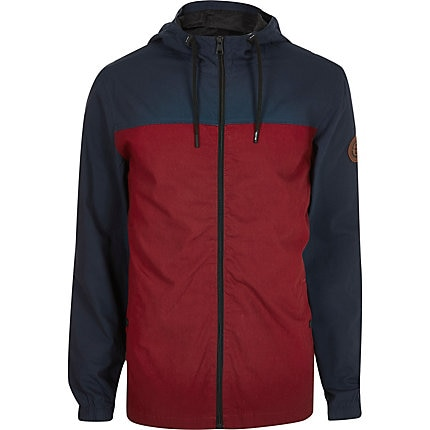 Mens Only and Sons red colour blocked jacket