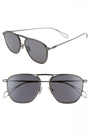 Men's Rag & Bone 54Mm Navigator Sunglasses - Matte Ruthenium