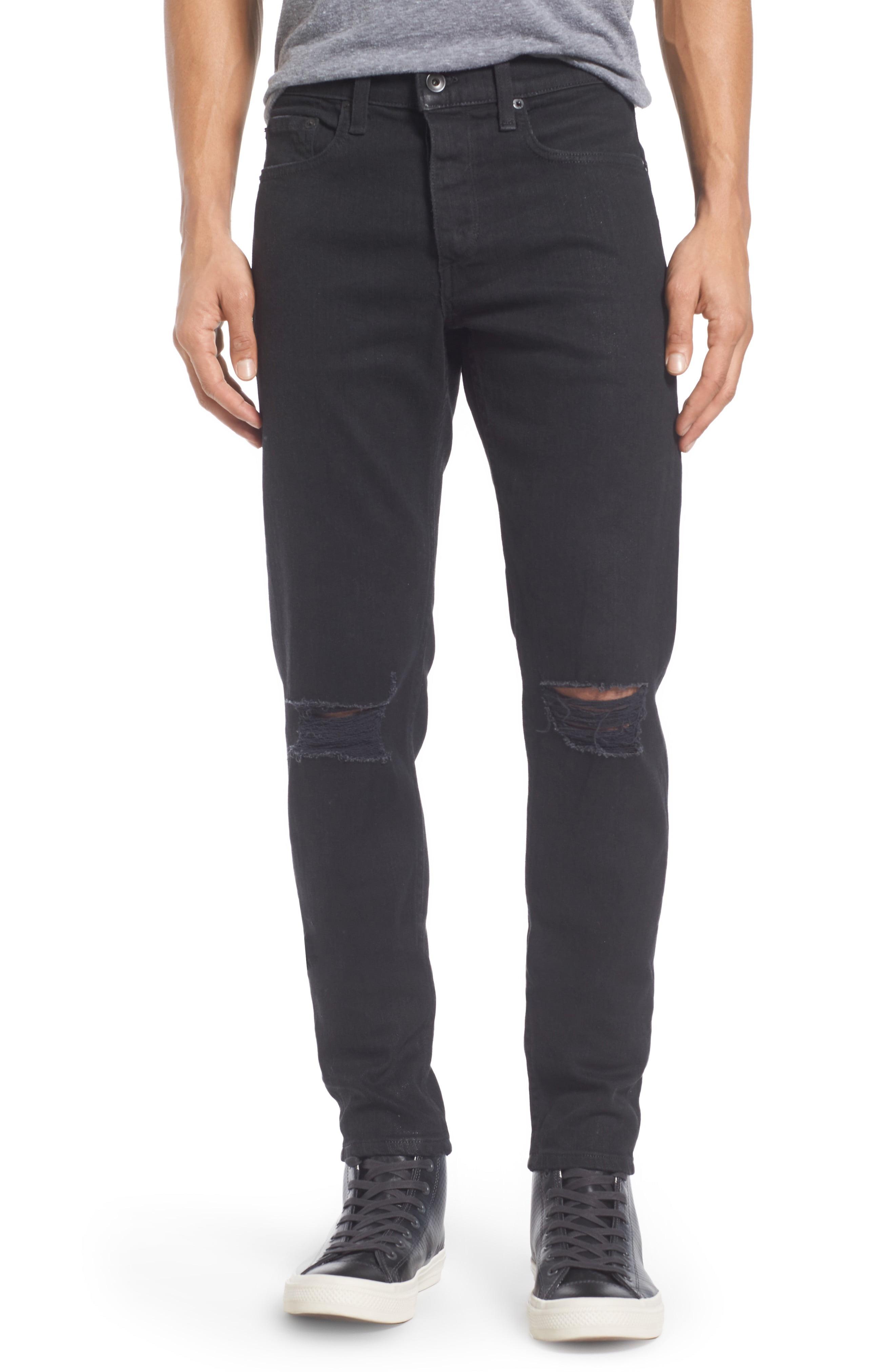 Men's Rag & Bone Fit 1 Skinny Fit Jeans, Size 28 - Black