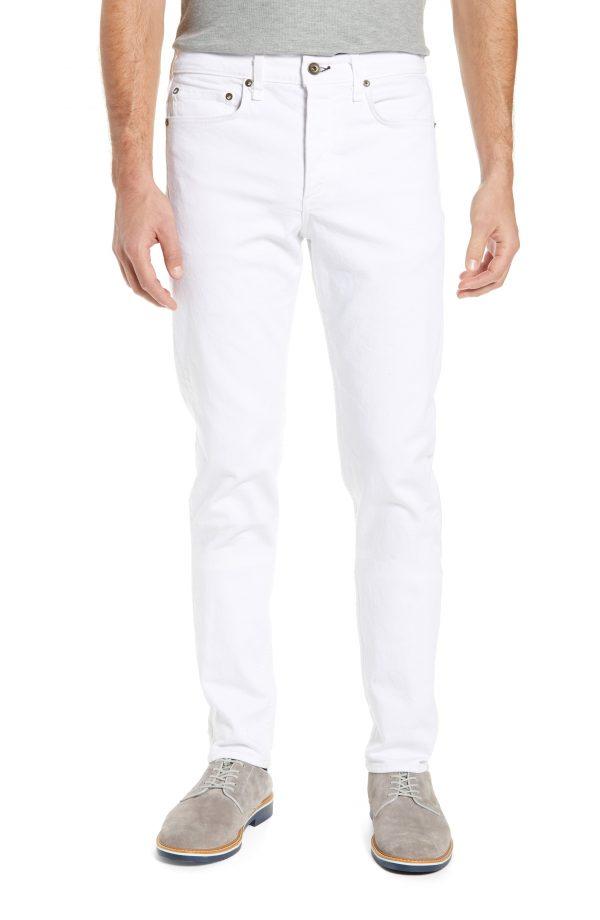 Men's Rag & Bone Fit 2 Slim Fit Jeans, Size 28 - White
