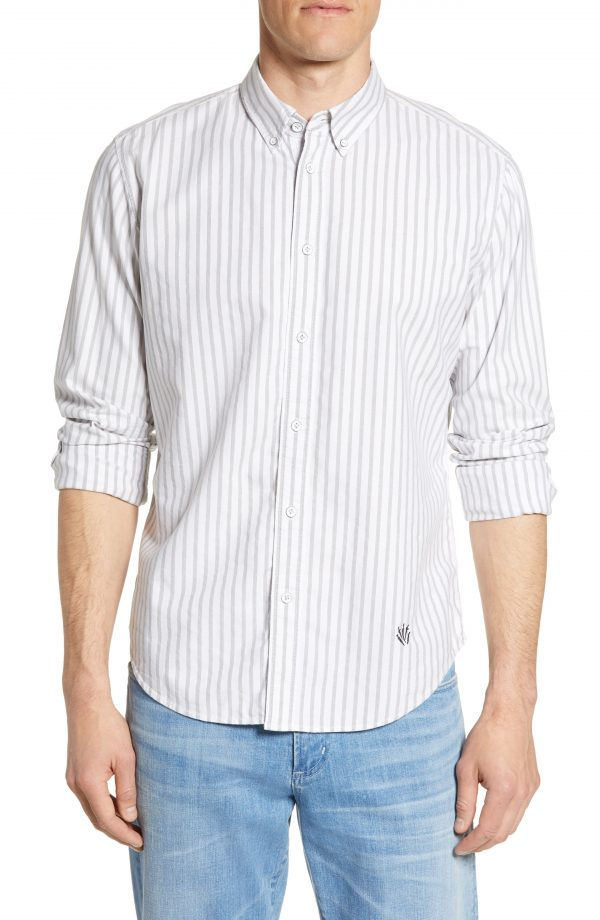 Men's Rag & Bone Fit 2 Tomlin Slim Fit Stripe Button-Down Oxford Shirt