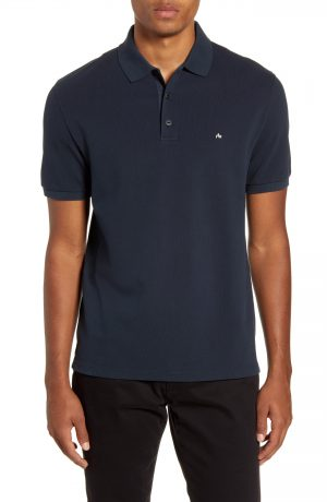 Men's Rag & Bone Hyper Laundered Classic Fit Pique Polo, Size Small - Blue