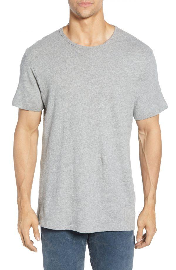Men's Rag & Bone Standard Issue Slubbed Cotton T-Shirt, Size Small - Grey